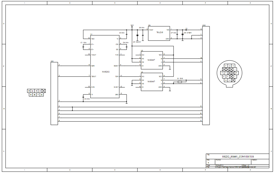 benz mb star c3 best rs232 to rs485 cable pcb and pinout, Wiring diagram